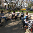 Урок рисования на открытом воздухе в Школе «Столичный формат»