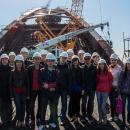 Студенты НГАСУ (Сибстрин) посетили строительную площадку Бугринского моста в Новосибирске