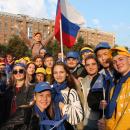 Более 400 студентов НГАСУ (Сибстрин) приняли участие в шествии II Парада российского студенчества