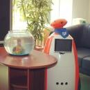 Робот-сотрудник РГУТИС  приветствует абитуриентов в Приемной комиссии.