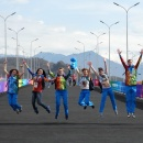 наши студенты работали волонтерами на прошедшем в прошлом году Олимпиаде в Сочи