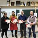 Победители выставки «Учитель. Ученик» 2019-2020 со своим преподавателем Лычагиным С. А.