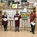 Победители выставки «Учитель. Ученик» со своим преподавателем Симоновым С. С.