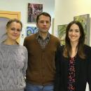 Победительницы выставки «Учитель. Ученик» со своим преподавателем Стриженко А. В.