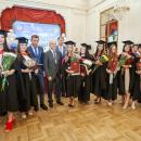 Вице-губернатор Санкт-Петербурга Серов К. Н. с лучшими выпускниками СпбУТУиЭ